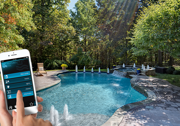 Pool with remote phone